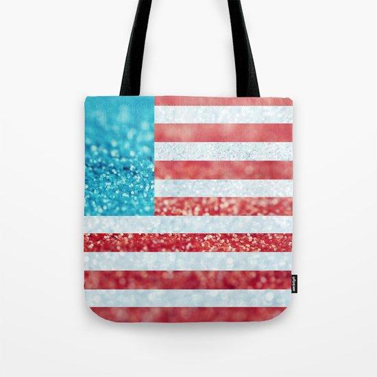 Red, White, and Glitter (Photo of Glitter) Tote Bag