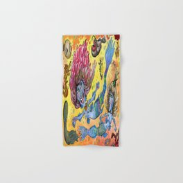Blue-Finned Mermaids watercolor Hand & Bath Towel