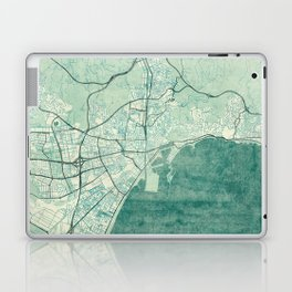 Malaga Map Blue Vintage Laptop & iPad Skin