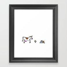 Cow. Framed Art Print