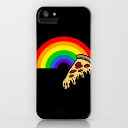 pizza rainbow iPhone Case