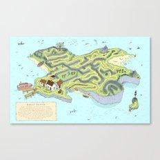 Eagle Island Maze Canvas Print