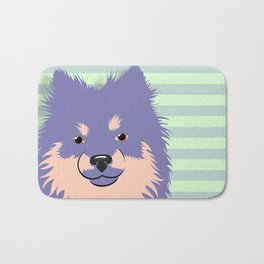 Olie the Pomeranian in Purple Bath Mat