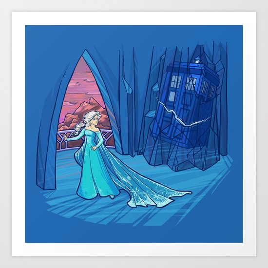Frozen in Time and Space Art Print