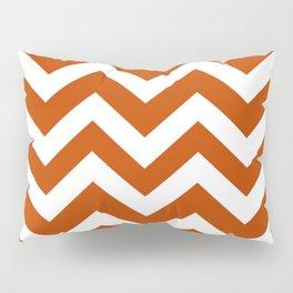 Mahogany - brown color - Zigzag Chevron Pattern Pillow Sham