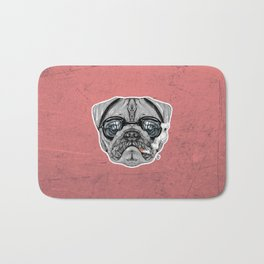Intelectual Pug Bath Mat
