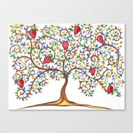 Pomegranate Tree Canvas Print