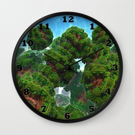 Bacterium Hedgerow Wall Clock