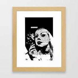 I Could Say More Framed Art Print