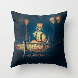 Alien Abduction Alien Autopsy Throw Pillow