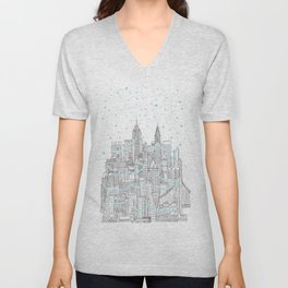 Winter in New York Unisex V-Neck