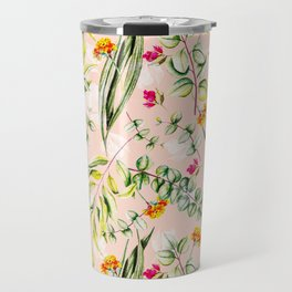 Pattern leaf and flowers II Travel Mug