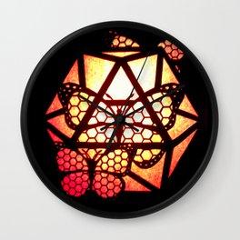 Burning Butterfly Lantern  Wall Clock