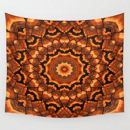 Africa sunset 3D kaleidoscope Wall Tapestry