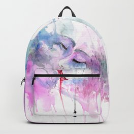 """Watercolor Painting of Picture """"Passion"""" Backpack"""