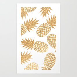 GOLD---Pineapple Art Print