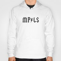 minneapolis Hoodies featuring Minneapolis by Nick Nelson