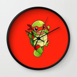 TMNT_POKET_MONSTER_RED Wall Clock