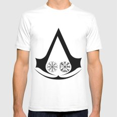Norse Assassins White Mens Fitted Tee MEDIUM