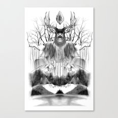 DEER KALEIDOSCOPE Canvas Print