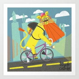 I would be lion if I didn't say that was a nice commute. Art Print