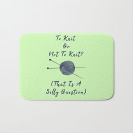 Vintage To Knit Or Not To Knit Funny Pun Sew Bath Mat