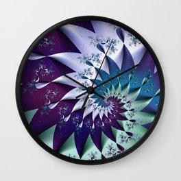 Winter Harlequin Wall Clock