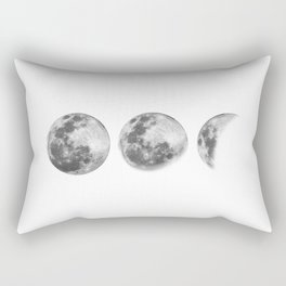 Full Moon cycle black-white photography print new lunar eclipse poster bedroom home wall decor Rectangular Pillow