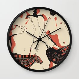 Bad Girls Love to Play Naughty 2 Wall Clock