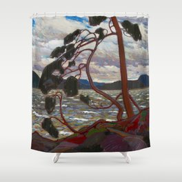 Tom Thomson - The West Wind - Canada, Canadian Oil Painting - Group of Seven Shower Curtain