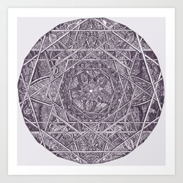Milkweed Mandala | Purple Art Print