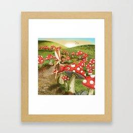 Toadstool Painting Framed Art Print