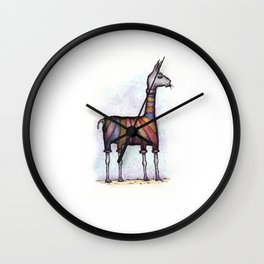 llamas get cold Wall Clock
