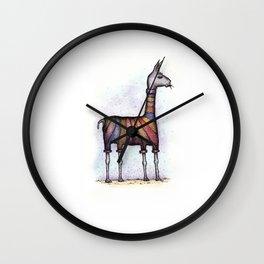 llamas get cold Wall Clock