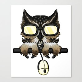 Gaming Owl Canvas Print
