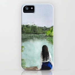 girl and nature iPhone Case