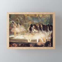 Ballet At The Paris Op Ra 1877 78 By Edgar Degas | Reproduction | Famous French Painter Framed Mini Art Print