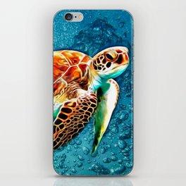 SEA TURTLE SWIMMING iPhone Skin