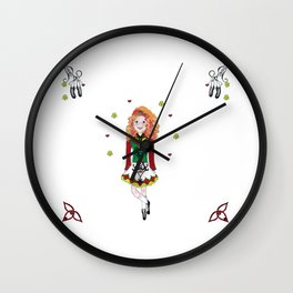 Irish Dancing Girl Wall Clock