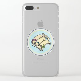 Snug as a Pug on a Rug Clear iPhone Case