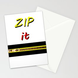 Zip it Black Yellow Red jGibney The MUSEUM Gifts Stationery Cards
