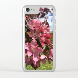 Crab Apple Blossoms Clear iPhone Case