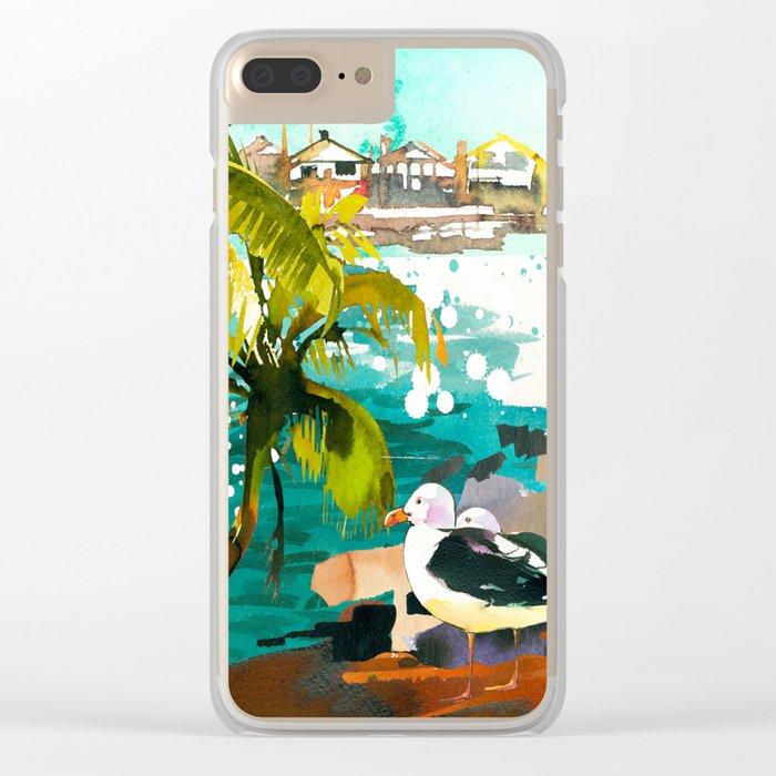 Seascape #5 Clear iPhone Case