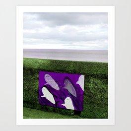 violet sharks Art Print