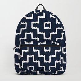 Blue Geometric Pattern Backpack