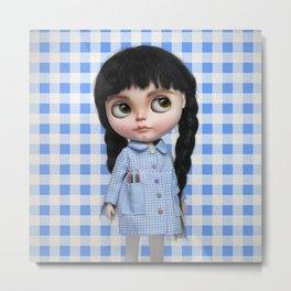 Baby Blue Vichy by Erregiro Metal Print