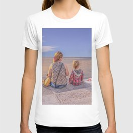 Waiting. Mother and child T-shirt