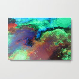 """""""Titan"""" Mixed media on canvas, abstract art painting designs, contemporary artist colorful design Metal Print"""