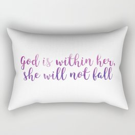 Psalm 46:5 - God is within her Rectangular Pillow