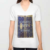 laptop V-neck T-shirts featuring Laptop by Jrr Bookworks